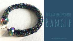Beaded Christmas Gift: Tubular Herringbone Bangle - Create & Craft Blog
