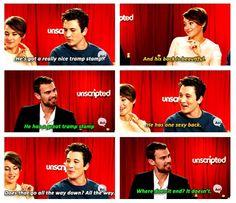 Theo, Shai, and Miles discussing Four's back xD ~Divergent~ ~Insurgent~ ~Allegiant~ Divergent Fandom, Divergent Funny, Divergent Trilogy, Tfios, Insurgent Quotes, Divergent Insurgent Allegiant, Divergent Quotes, Tris E Quatro, Tris And Four