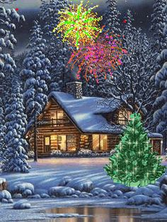 Merry Christmas to all Family and Friends and may you have a great New Year Christmas Scenes, Noel Christmas, Merry Christmas And Happy New Year, Country Christmas, Christmas Pictures, Christmas Greetings, Winter Christmas, Christmas Lights, Christmas Tree Outside