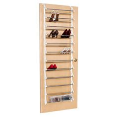 The Container Store > 36-Pair Overdoor Shoe Rack.  Hawk Home will be getting this at our next trip to TCS!