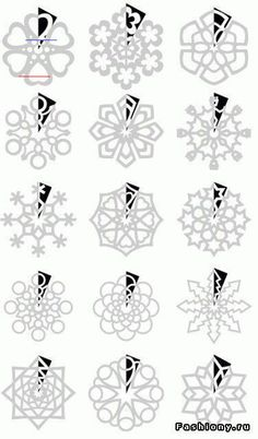 parenting 15 Ideas For Teachers During The Holidays Muster aus Papierschneeflocken Mehr Kirigami Patterns, Paper Snowflake Patterns, Snowflake Craft, Paper Snowflakes, Snowflake Template, Snowflake Ornaments, Decor Crafts, Christmas Crafts, Diy And Crafts