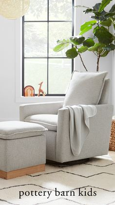 The Paxton Swivel Glider is a contemporary twist on a classic armchair and a modern addition to any nursery. It's carefully crafted from sturdy hardwood for durability that's safe and stylish. The convenient swivel feature gently and noiselessly helps you lull baby to sleep while the reclining mechanisms are thoughtfully within easy reach so you can comfortably sit back and relax.