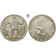 Deutsches Kaiserreich, Preussen, Wilhelm II., 3 Mark 1913, Der König rief, vz-st, J. 110: Wilhelm II. 1888-1918. 3 Mark 1913. Der… #coins