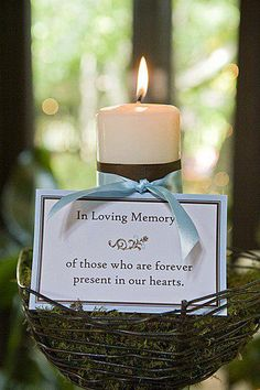 memory candle, the wording not the weird bird thing -J