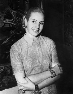 """Eva Peron, though mostly known today for the Broadway play Evita, or even the Madonna version of the song, """"Don't Cry for Me Argentina"""", was first lady of . Behind Every Great Man, Vogue, Great Women, Looks Vintage, Women In History, Fashion Photo, Vintage Images, Famous People, Glamour"""