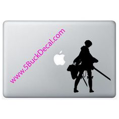 """6"""" Attack on Titan - Levi - Vinyl Wall Decal or Macbook Sticker or Car"""