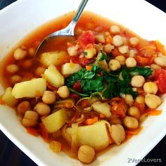 2 VegeLovers: CHICKPEA SOUP