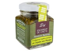 ''ESCARGOT DE CRETE''  Finest Gourmet Helix Aspersa Snails in Cretan Olive Oil with Lemon and Thyme