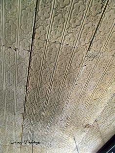 gorgeous tin ceiling