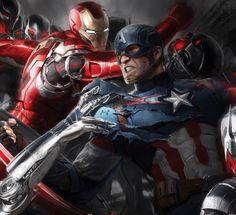 Iron Man & Cap. Vs Ultron.