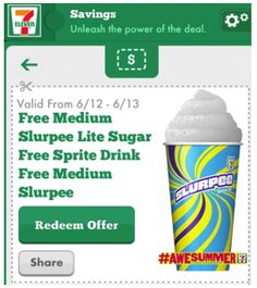 7-Eleven Coupon for a FREE Sprite Sugar Free Lite Slurpee Today Only! (6/13)
