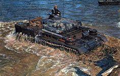 * Panzerbefehlswagen Crossing the River * # World War II #