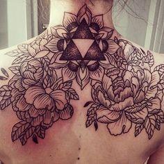 zelda inked tattoo flower ink game back DOTS