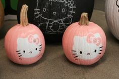 Hello Kitty pumpkin designs