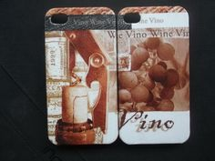 We are Vino wine decoupage case/ Classic/ for iPhone4/iPhone4s/ Cover case / Hard Case / Accessories/Thailand on Etsy, ฿882.35