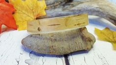 Birch Bark Resin Bangle  Birch Bark Bracelet  Real Tree Bark
