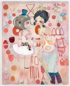Available for sale from Galerie Perrotin, Aya Takano, Secrets of the Thousand Year Spiral: Torazuka Oil on canvas, 162 × 130 cm Pretty Art, Cute Art, Aya Takano, Japanese Contemporary Art, Japanese Artists, Aesthetic Art, Asian Art, Art Education, Art Inspo