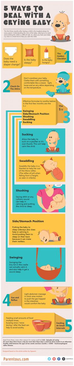 5 Tips To Deal With Your Crying Baby - Parenting Infographic