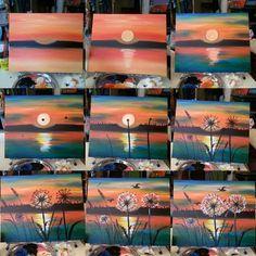 Pop art Tuval Resimleri is part of En Iyi Tuval Resimleri Goruntusu Canvas Art Acrylic Art - Painting Ideas On Canvas Sunset Step By Step 38 Ideas Easy Canvas Painting, Diy Canvas, Diy Painting, Painting & Drawing, Canvas Art, Dandelion Painting, Canvas Ideas, Lake Painting, Canvas Painting Tutorials