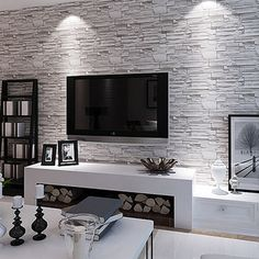 Modern brief brick wallpaper waterproof pvc living room tv wall wallpaper 3d