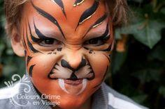 Geweldige schmink gezichtjes voor kinderen: Tijgers en Katten - Gerepind door www.gezinspiratie.nl #schminkspiratie #schmink #kids