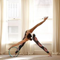 World's first Yoga Wheel designed to help stretch and release tension and…