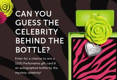 Which celeb is behind this bottle? Enter your guess here: http://ow.ly/eYym7