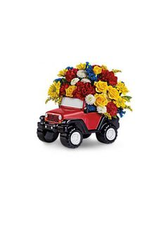 Jeep Gear: Product 'Jeep Wrangler King of the Road Floral Bouquet' any girl would be happy to get this :-)