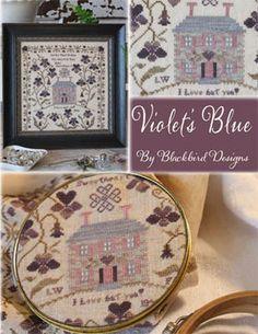 Violet's Blue - Cross Stitch Pattern - 123Stitch.com