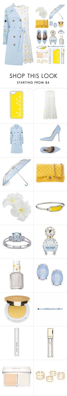 """Blue Trench"" by reb99170 on Polyvore featuring CellPowerCases, Dolce&Gabbana, VIVETTA, Norma J.Baker, Chanel, Marc by Marc Jacobs, Miadora, Marc Jacobs, Essie and Cara"