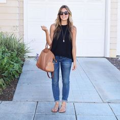 """""""Neutrals for life. (More #legitmomstyle outfits are up on the blog tonight! )…"""