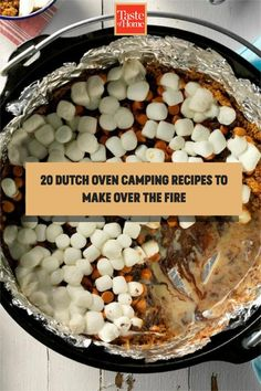 20 Dutch Oven Camping Recipes to Make Over the Fire Best Camping Meals, Camping Recipes, Home Recipes, Crockpot Recipes, Dutch Oven Camping, Taste Of Home, Outdoor Cooking, Comfort Foods, Casseroles