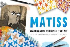 Illustrations and Illustration Products: beauty drops - Matiss - Watercolor Designer Toolkit