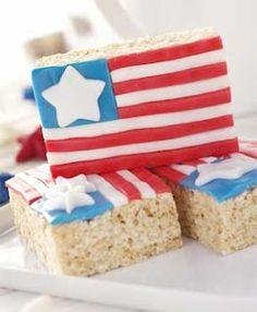 july fourth rice krispie treats