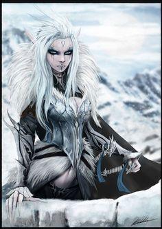 Ylva Creena, a ex-líder dos Elfos de Prata. Atualmente comanda um pequeno grupo de elfos prateados que são habilidosos guerreiros. As Valkyrias Brancas