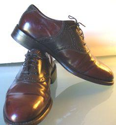 Johnston & Murphy Vintage Saddle Shoes Size 8.5 by TheOldBagOnline on Etsy