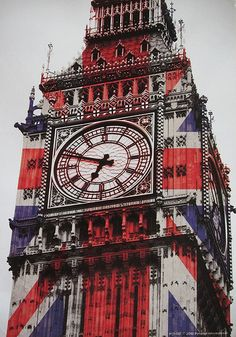 Union Jack on the 'Elizabeth Tower' by Xiaki2 via Flickr