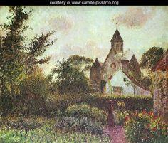 Knocke church - Camille Pissarro - www.camille-pissarro.org