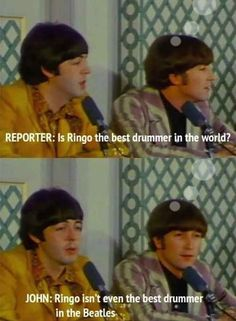 When John and Paul were asked how they really felt about Ringo: | 9 Times The Beatles Proved They Were Cheeky #TheBeatles #Beatles #JohnLennon #PaulMcCartney