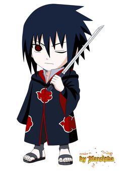 Render Chibi Akatsuki Sasuke by on DeviantArt Naruto Shippuden Sasuke, Naruto Kakashi, Anime Naruto, Sasuke Akatsuki, Sakura E Sasuke, Naruto Cute, Boruto, Sasuke Mangekyou, Sasunaru