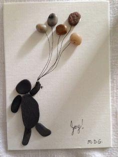 """Pebble Art by Denise. """" Joy"""""""