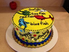 Dr Suess Cat in the Hat Fish Smash Cake for Matthews first