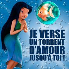 """""""Je verse un torrent d'amour jusqu'à toi."""" Ondine - © Disney #CLOCHETTE"""