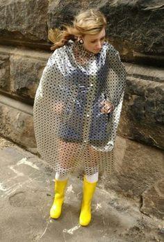 Vinyl Raincoat, Pvc Raincoat, Plastic Raincoat, Plastic Mac, Capes & Ponchos, Rain Cape, Pvc Vinyl, Rain Wear, Lady