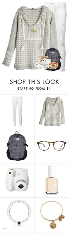 """So confused"" by summerdreaming7 ❤ liked on Polyvore featuring Frame, Calypso St. Barth, The North Face, Ray-Ban, Fujifilm, Essie, Alex and Ani and Converse"
