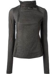RICK OWENS Funnel Neck Biker Jacket. #rickowens #cloth #jacket