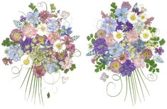Name Meaning Poem: gifts and pressed flower personalized art pictures with poems and names