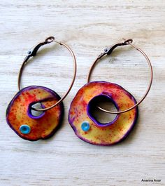 Polymer clay earrings by AnarinaAnar on Etsy, €21.00