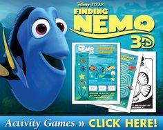 FREE: Finding Nemo Printable Activities