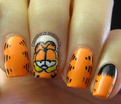 Garfield nails. Garfield even has the same Myers-Briggs personality type as me (ENTP)